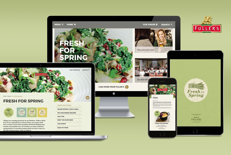 Fuller's Spring Seasonal Food Branding
