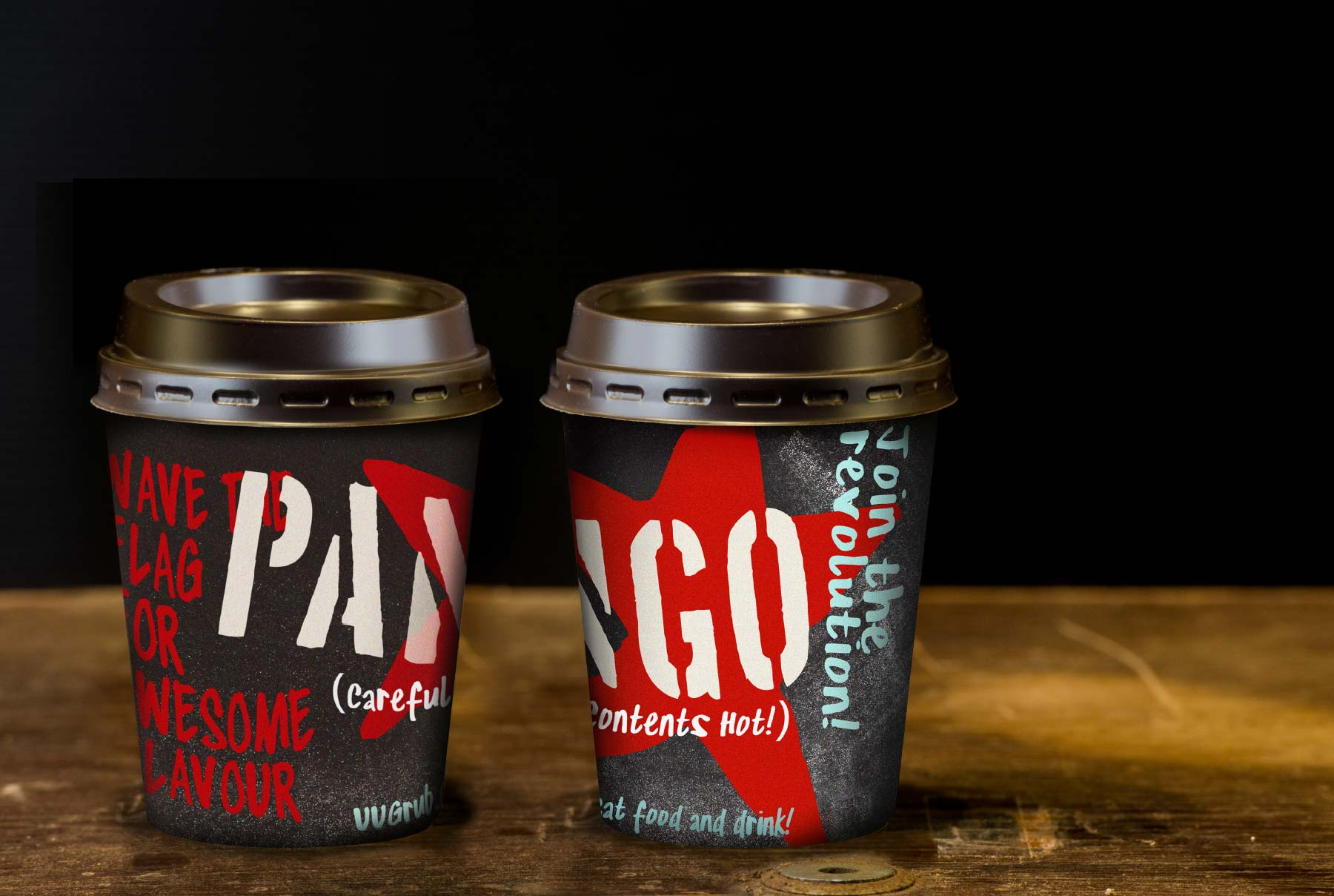 Pango Food Branding - Coffee Cup Design