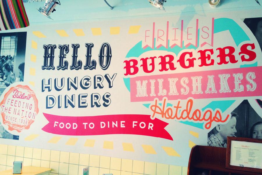 Butlin's Diner Wall Art