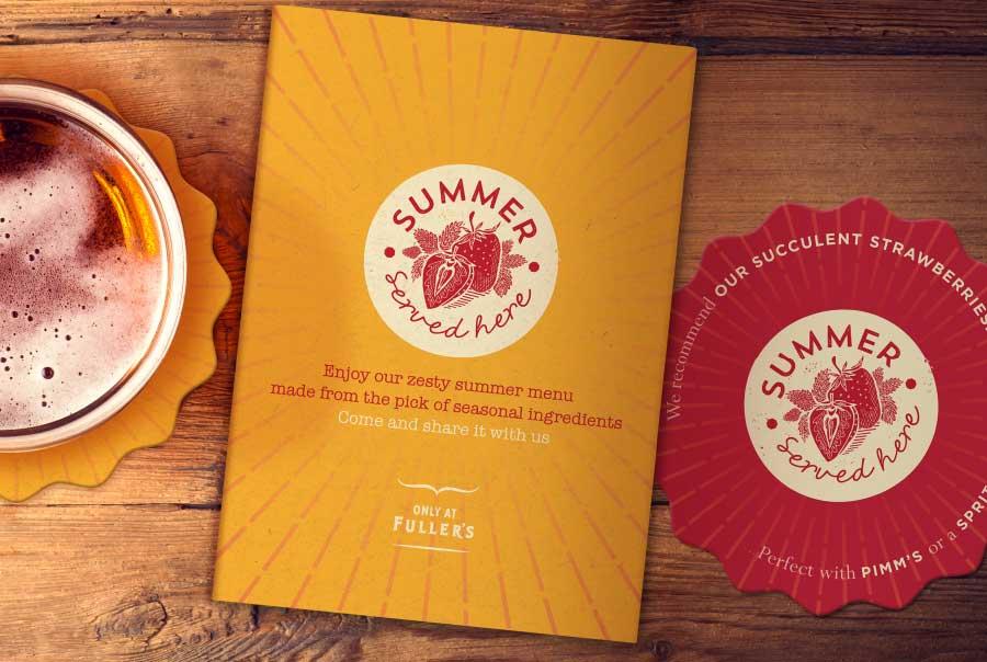 Fuller's Spring Summer Food Campaign Branding
