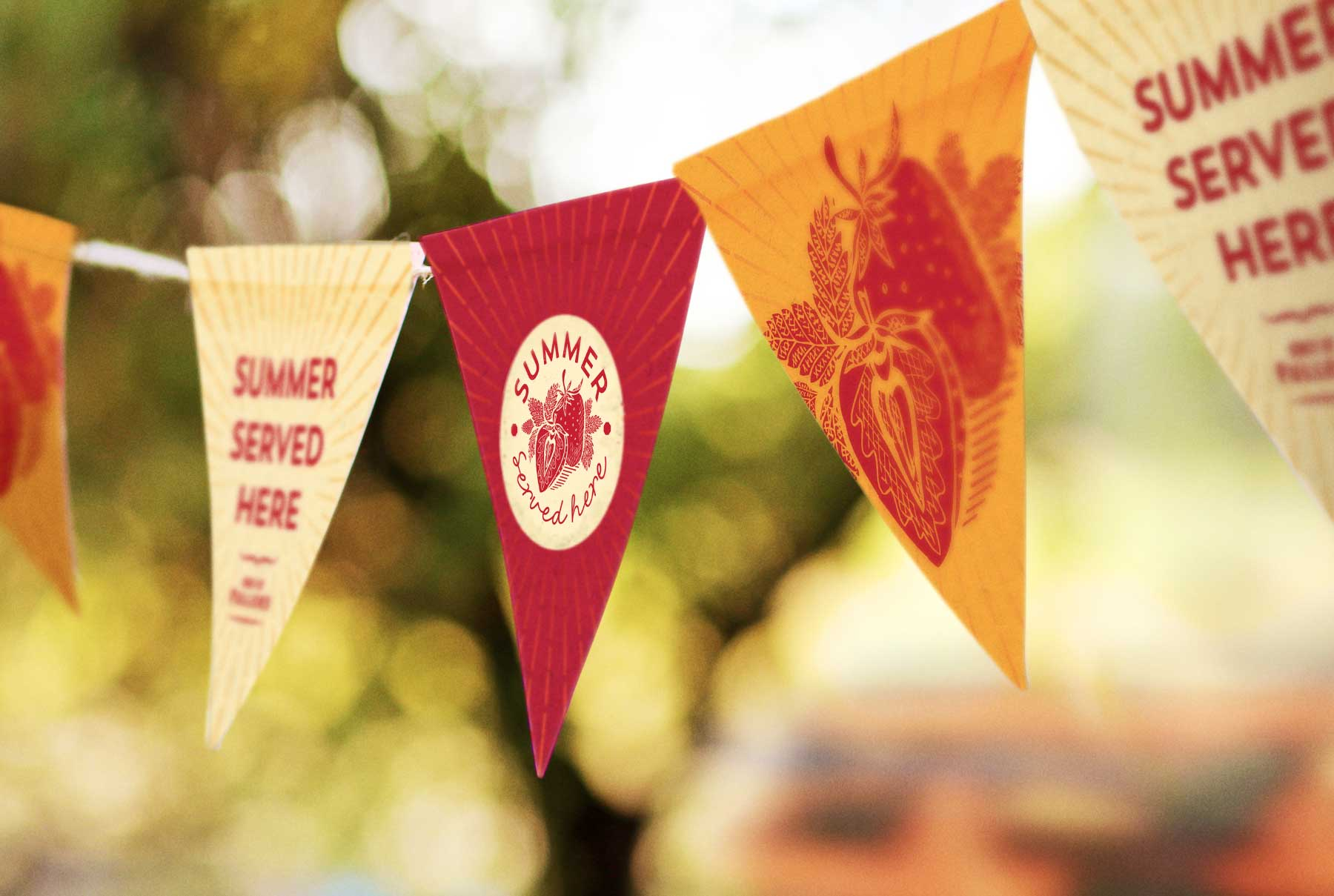 Fuller's Summer Served Here Bunting Design