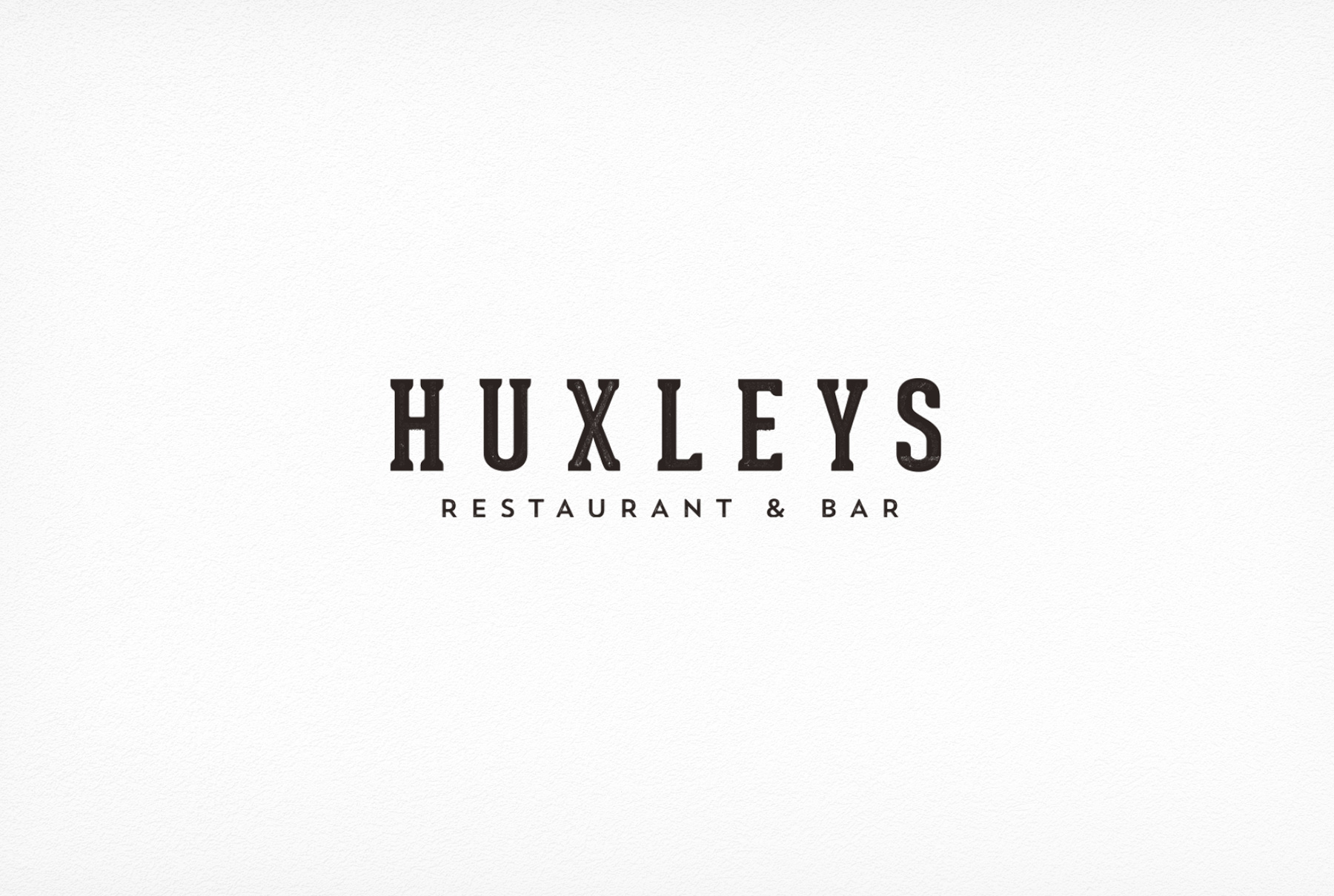 Huxleys Restaurant Bar Brand Repositioning - Logo Design