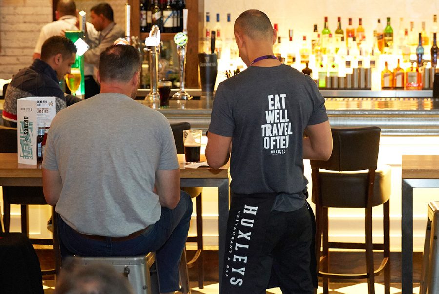 Huxleys Restaurant Bar Brand Repositioning - T-shirt Design