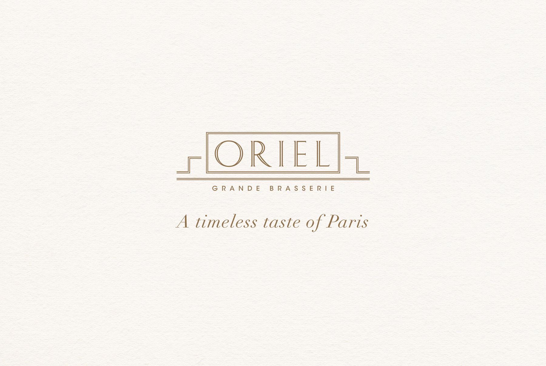 Oriel Grande Brasserie - Branding
